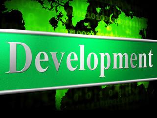 Develop Development Shows Evolution Forming And Enlargement