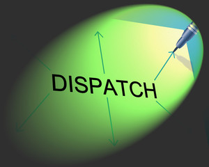 Delivery Dispatch Means Supply Chain And Sending