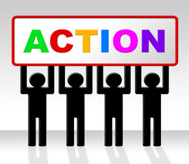 Do It Now Means Act Placard And Urgent