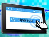 Online Upgrade Indicates World Wide Web And Refurbish poster