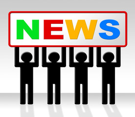 Media News Represents Journalism Newspapers And Info