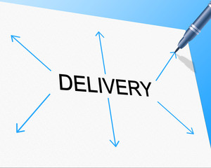 Delivery Distribution Indicates Supply Chain And Delivering