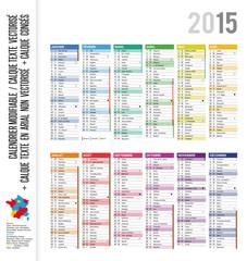 calendrier 2015 avec semaines