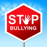 Stop Bullying Shows Push Around And Caution poster