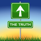 Truth Sign Shows No Lie And Accuracy poster