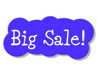 Big Sale Represents Retail Promo And Promotional