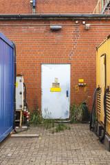 Door with Warnings
