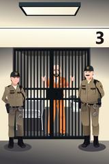 Prisoner in the jail