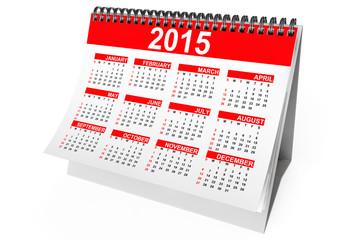 2015 year desktop calendar
