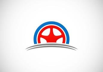 car tyre automotive vector logo