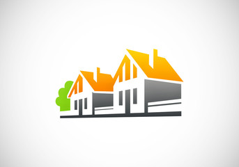 real estate homes vector logo