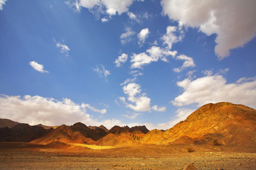 Multi-coloured hills