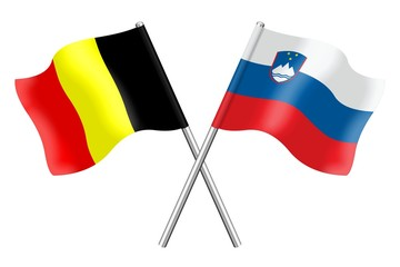 Flags: Belgium and Slovenia
