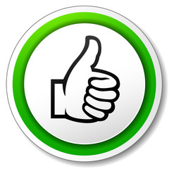 Vector thumbs icon