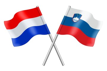 Flags: Netherlands and Slovenia