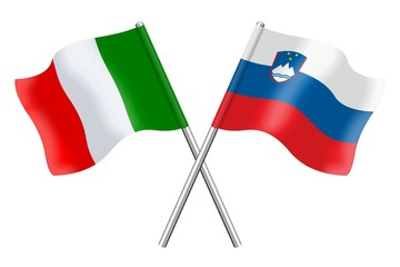 Flags: Italy and Slovenia