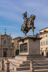The bronze statue in Turin, Italy