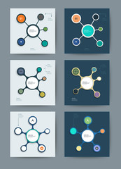 Set of Infographics molecule design template