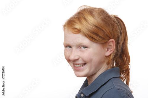 canvas print picture Freundliches rothaariges Mädchen