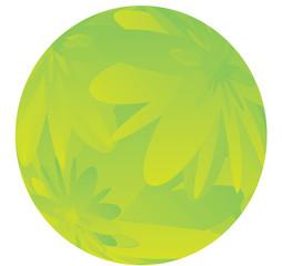 green flower ball