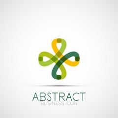 Line design loop logo