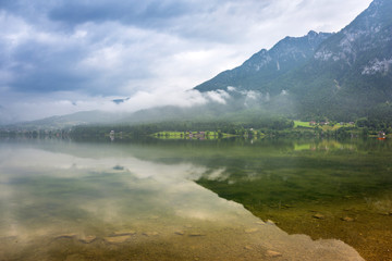 Scenery of Alps mountains in cloudy day, Austria