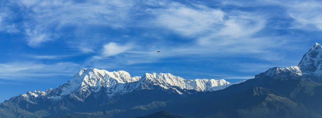 the snow mountain in pokhara,nepal