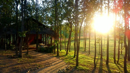 Sunset in chiangmai thailand