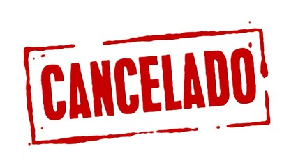 Red Rubber Stamp Cancelled Spanish