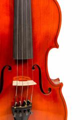Part violin closeup