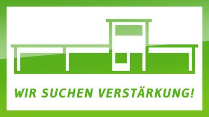 fs13 FactorySign - Wir suchen Verstärkung - grün g1824 - 16 zu 9