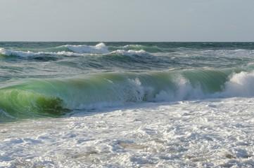 vagues et rouleaux