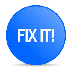 fix it internet blue icon