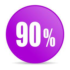 90 percent web icon