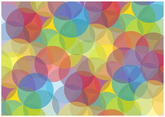 bright bubbles vector background
