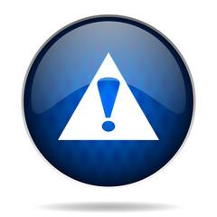 warning internet blue icon