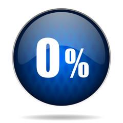 0 % internet blue icon