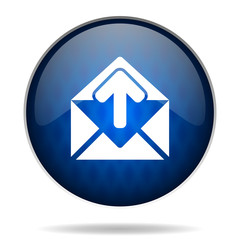mail internet blue icon