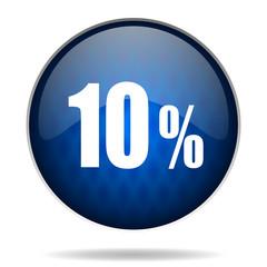 10 % internet blue icon