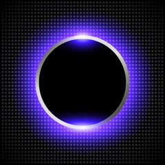 Abstract background with glowing neon circle