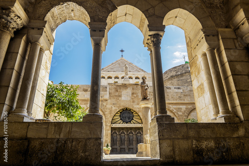 Fotobehang Midden Oosten View of the Church of the Nativity Bethlehem
