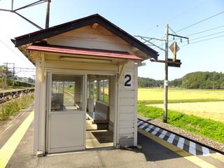 駅のホームの待合室