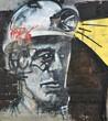 Fototapete Abstrakt - Wand - Graffiti