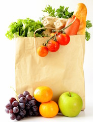 paper shopping bag full of products