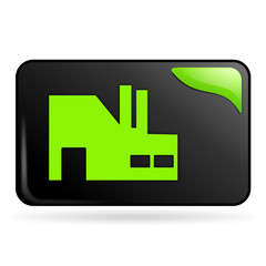 industrie sur bouton web rectangle vert