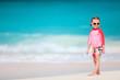 Cute little girl at beach