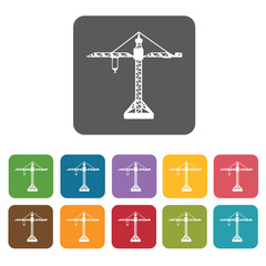 Crane building icon. Building and construction and home repair t