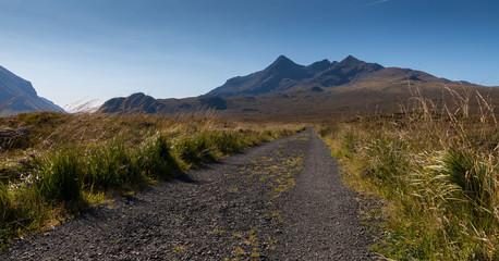 Road towards Cuillin Hills