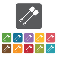Shovel building icon. Building and construction and home repair