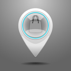 Glossy Shopping Center Icon